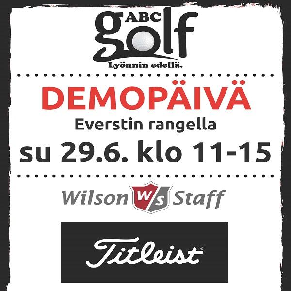 ABC Golf Demopäivä 29.6.